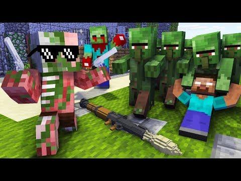 Monster School : ZOMBIE APOCALYPSE CHALLENGE - PART 2 - Minecraft Animation