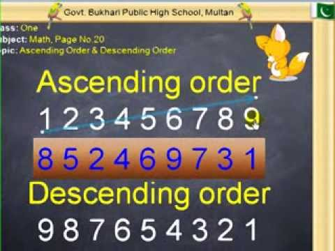 Math Ascending Order & Descending Order