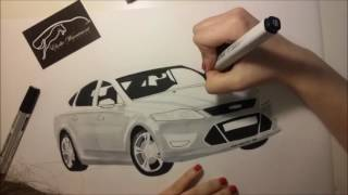 Ford Mondeo 2014 with markers by E.W.