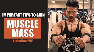 Important Tips to Gain MUSCLE MASS by Guru Mann (including PDF)