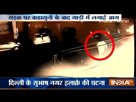 Two Men Caught Setting Fortuner Car on Fire to Avenge Road Rage in Delhi