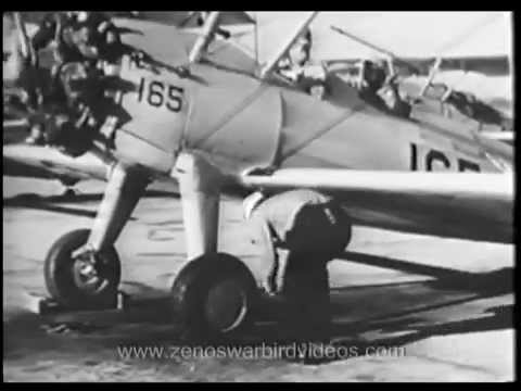 Primary Flight Training with the Stearman PT-13-17 N2S Kaydet: Taxiing & Take-off