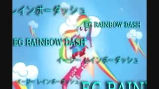 Twilight Sparkle, Rainbow Dash, and Rarity- Mega digivolution (English version)
