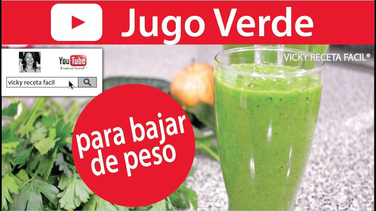 Jugo verde para bajar de peso vicky receta facil youtube - K hacer para adelgazar ...