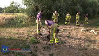 Buurman ontdekt brand op Landgoed het Hoenderbosch in Westendorp