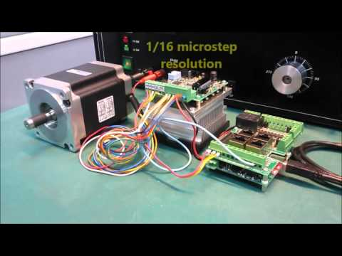 Nema 34 stepper motor high speed demo 4000 rpm youtube for High speed stepper motor