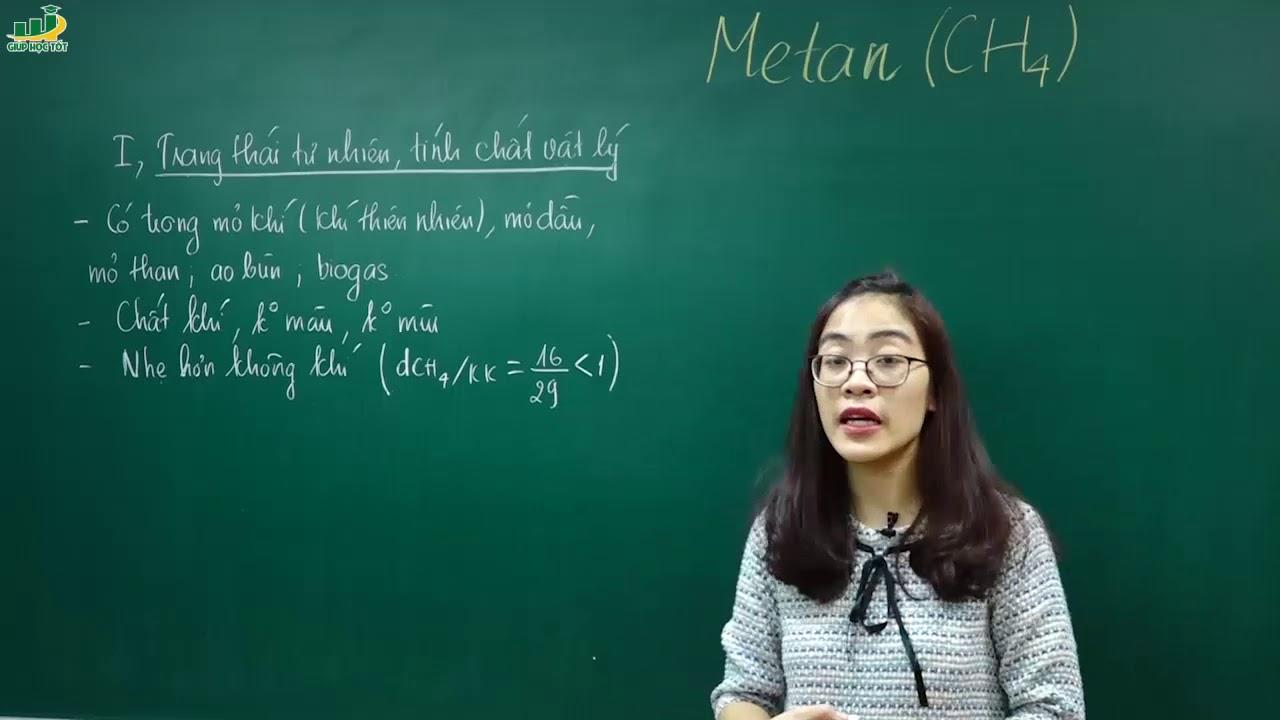 Hóa Học Lớp 9 – Bài 36 Metan   Chương Hiđrocacbon. Nhiên liệu