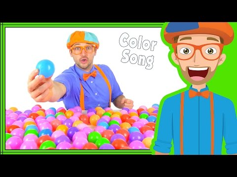 Thumbnail: Color Songs For Kindergarten | Fun Blippi Song