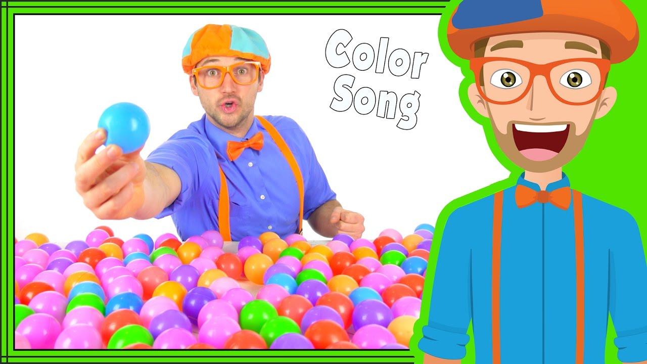 Color Songs For Kindergarten | Fun Blippi Song