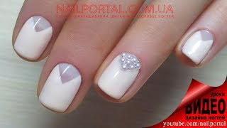 Дизайн ногтей гель-лак shellac - Дизайн ногтей жемчугом (видео уроки дизайна ногтей)
