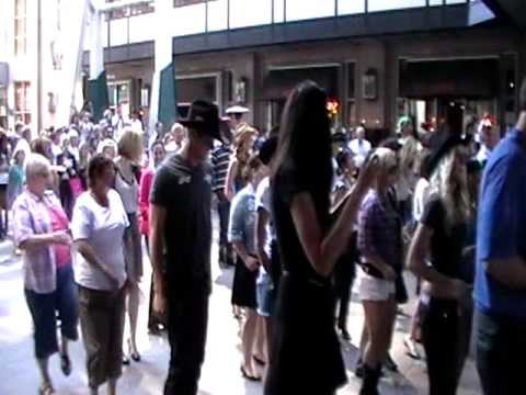 Cowboys 2011 Calgary Stampede Flash Mob Line Dance Youtube