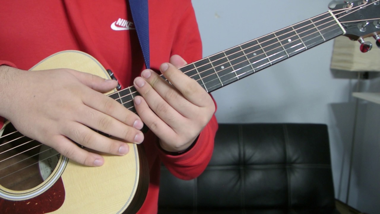 How To Play An E Flat Add 9 Chord Guitar Tutorial Youtube