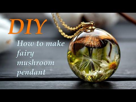 DIY resin   How to make resin mushroom pendant   First step