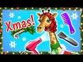 Giraffe Rachel's Winter Routine! Christmas Animal Hair Salon 2   TutoTOONS Cartoons & Games for Kids