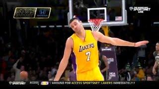 Bucks vs Lakers Larry Nance Jr FACIAL on John Henson