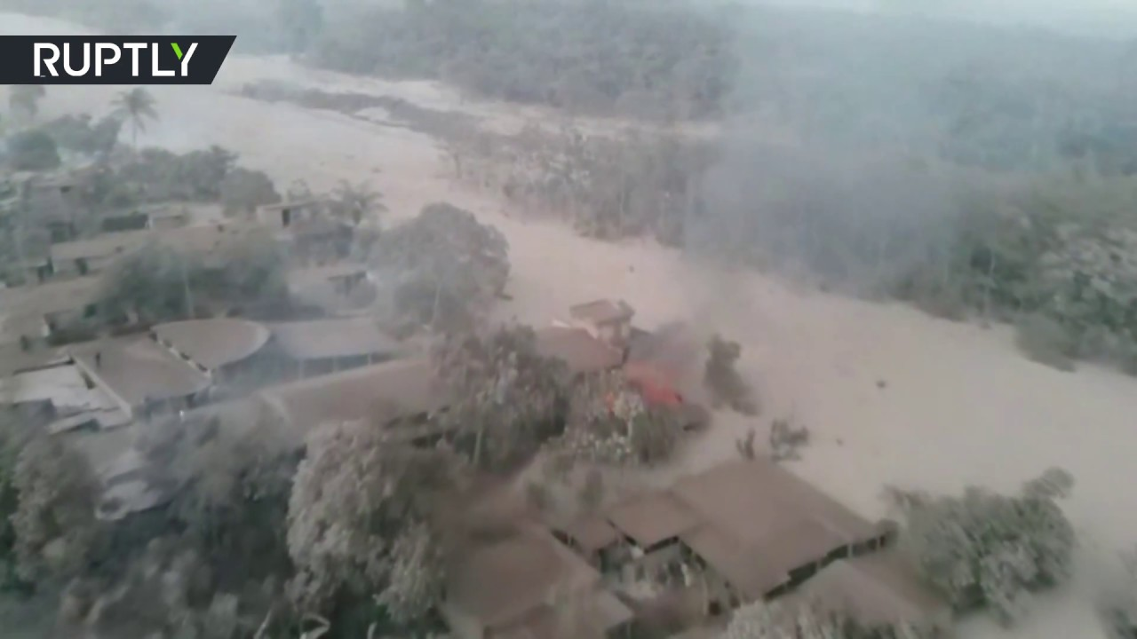 'A village has disappeared': Drone shows aftermath of Fuego eruption in Guatemala, 25 died