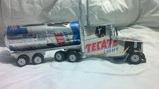 trailer hecho con latas de aluminio tutorial   truck made from aluminum cans tutorial