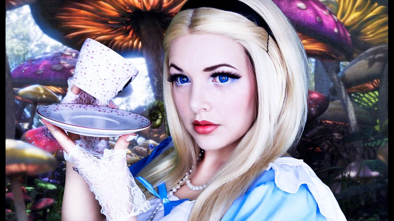 Alice Wonderland Halloween Makeup Tutorial Cherry
