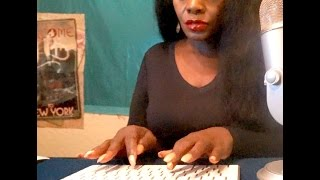 Typing Chewing Gum ASMR Eating Sounds 1 Hr +