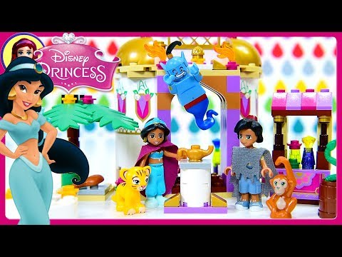 LEGO Disney Princess Aladdin Jasmine's Exotic Palace with Genie Dress Up Build Silly Play Kids Toys