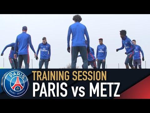 TRAINING SESSION - ENTRAINEMENTS - PARIS SAINT-GERMAIN vs METZ
