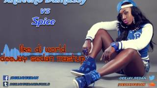 Repeat youtube video Andeeno Damassy ft. Jimmy Dub vs Spice - Like Di World(Deejay SedaN Mashup)