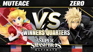 MuteAce (Peach) vs Tempo | ZeRo (Cloud/Diddy Kong) - Ultimate Winners Quarters - SC United