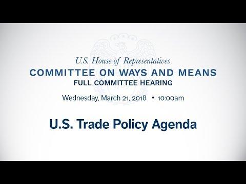 Hearing on U.S. Trade Policy Agenda