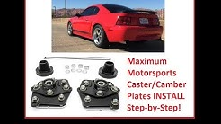 Step-by-Step How to install Caster/Camber Plates. Ford Mustang Maximum Motorsports cc plates