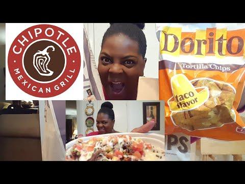 Mukbang/Chipotle Rice Bowl & Doritos Taco Flavor(eating show)