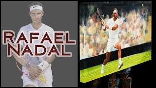 Rafael Nadal The Volcano Oil on Canvas ATP Tennis - Sports Art 5 | The Berlin Tennis Gallery