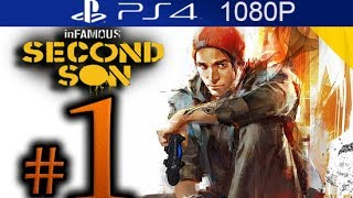 Infamous Second Son Walkthrough Part 1 [1080p HD PS4] - First 40 Minutes! - No Commentary