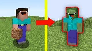 NOOB vs MINECRAFT - O NOOB VIROU ZUMBI !!!