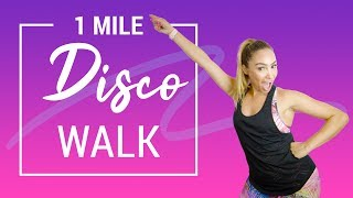 1 Mile Easy Disco Walking Workout | Burn 150 Calories in Just 15 Minutes!