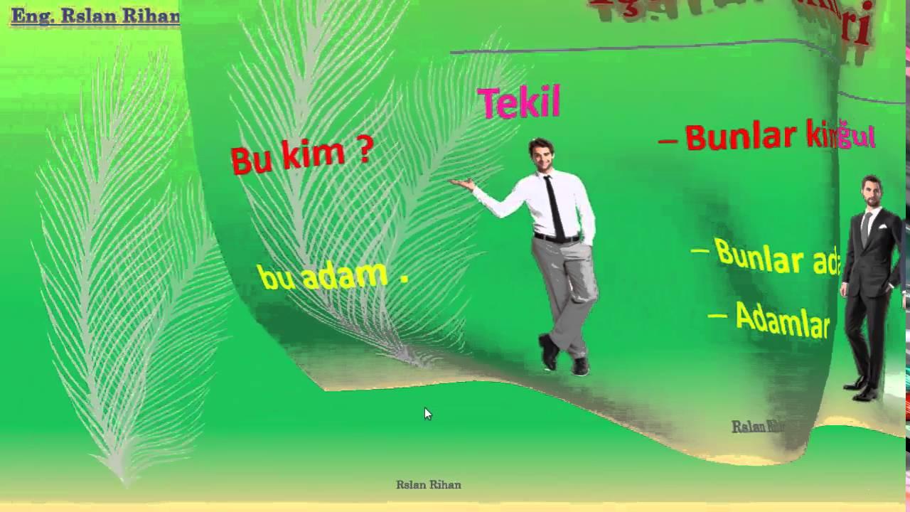 تعلم اللغة التركية (الدرس 3 من المستوى الأول A1) (أدواة الإشارة + الجمع + الاستفهام)