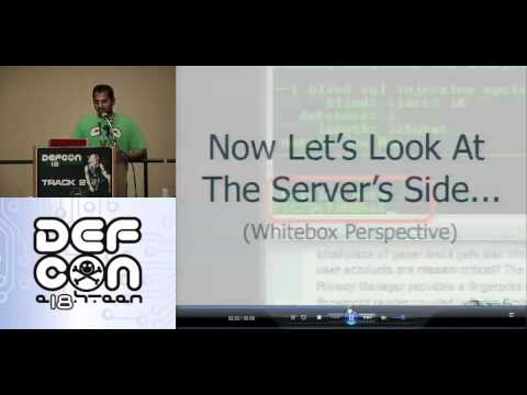 DEFCON 18: Hacking Oracle From Web Apps  4/4