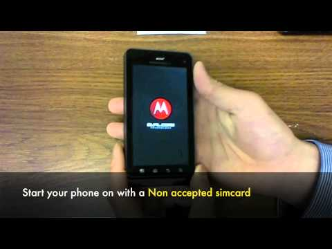 UNLOCK MOTOROLA Droid 3 XT860 - How to Unlock Droid 3 Motorola XT860 4G by Unlock Code