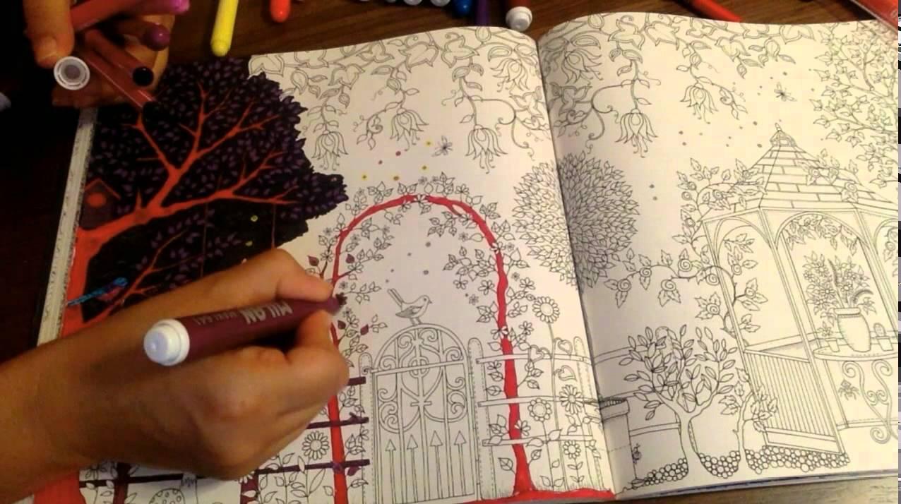 Secret Garden Coloring Book Dark Part 1