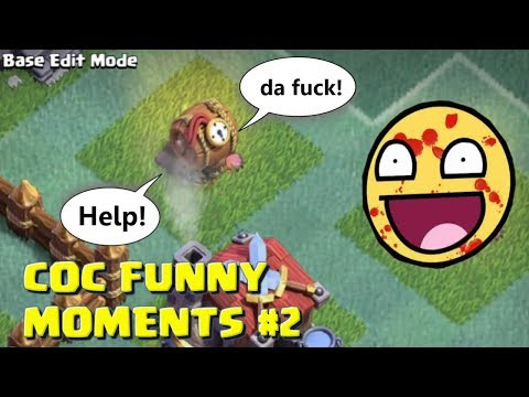 Clash Of Clans Funny Moments#2 ♦ COC Glitches, Fails, Wins and Trolls Compilation #2