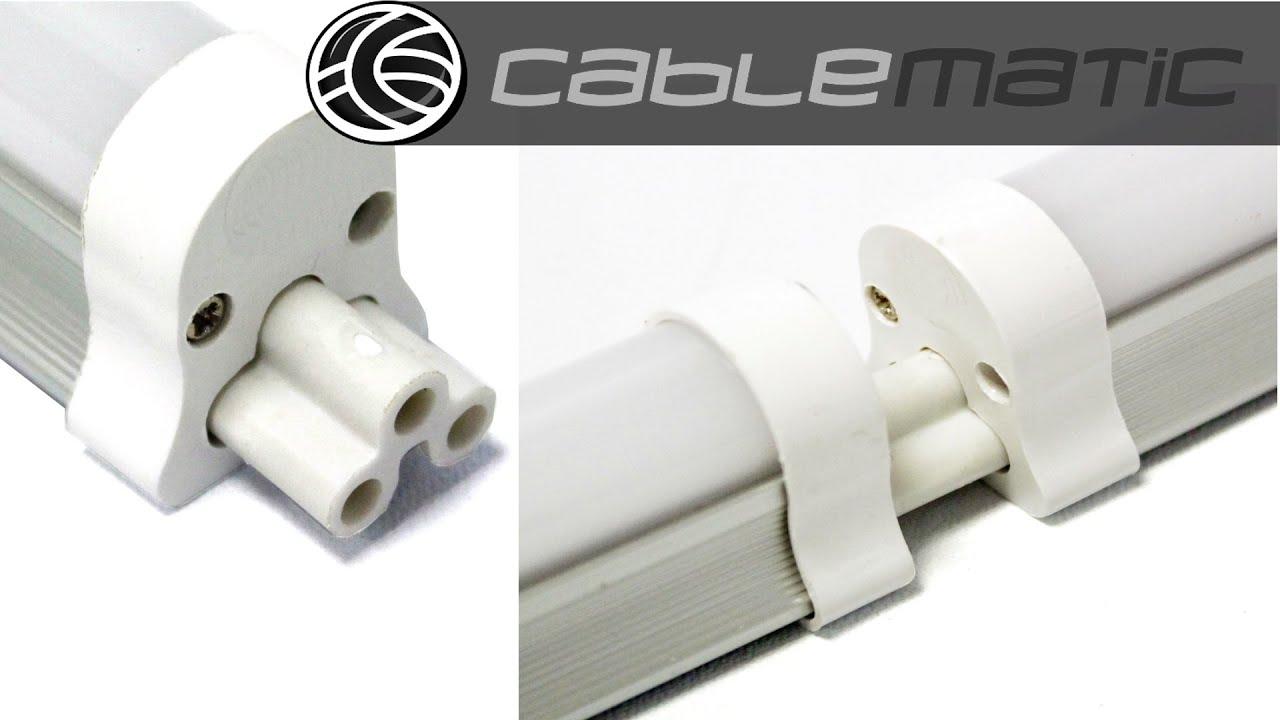 Empalme iec 60320 c5 para tubo led t5 distribuido por - Como instalar lamparas led ...