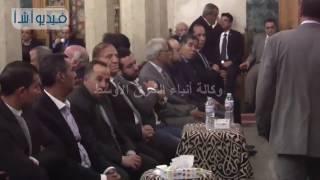 بالفيديو : عنان و أبو الفتوح وعبد الحكيم عبد الناصر وجيهان السادات عزاء يحيي الجمل