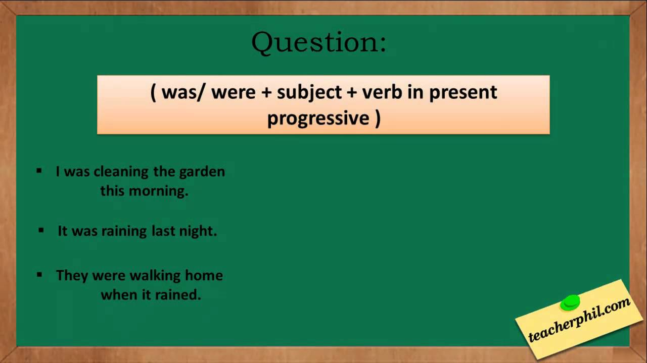 Past Progressive Tense in English Grammar - YouTube