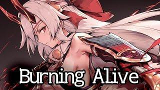 Nightcore - Burning Alive (Lyrics) | 8 Graves