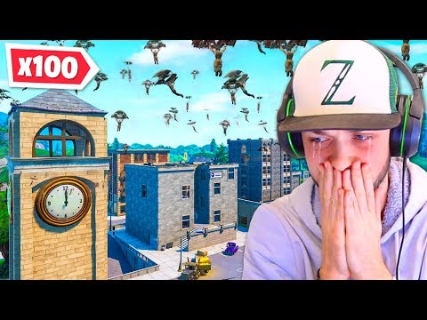 100 Players Say GOODBYE To Tilted Towers! (EMOTIONAL)