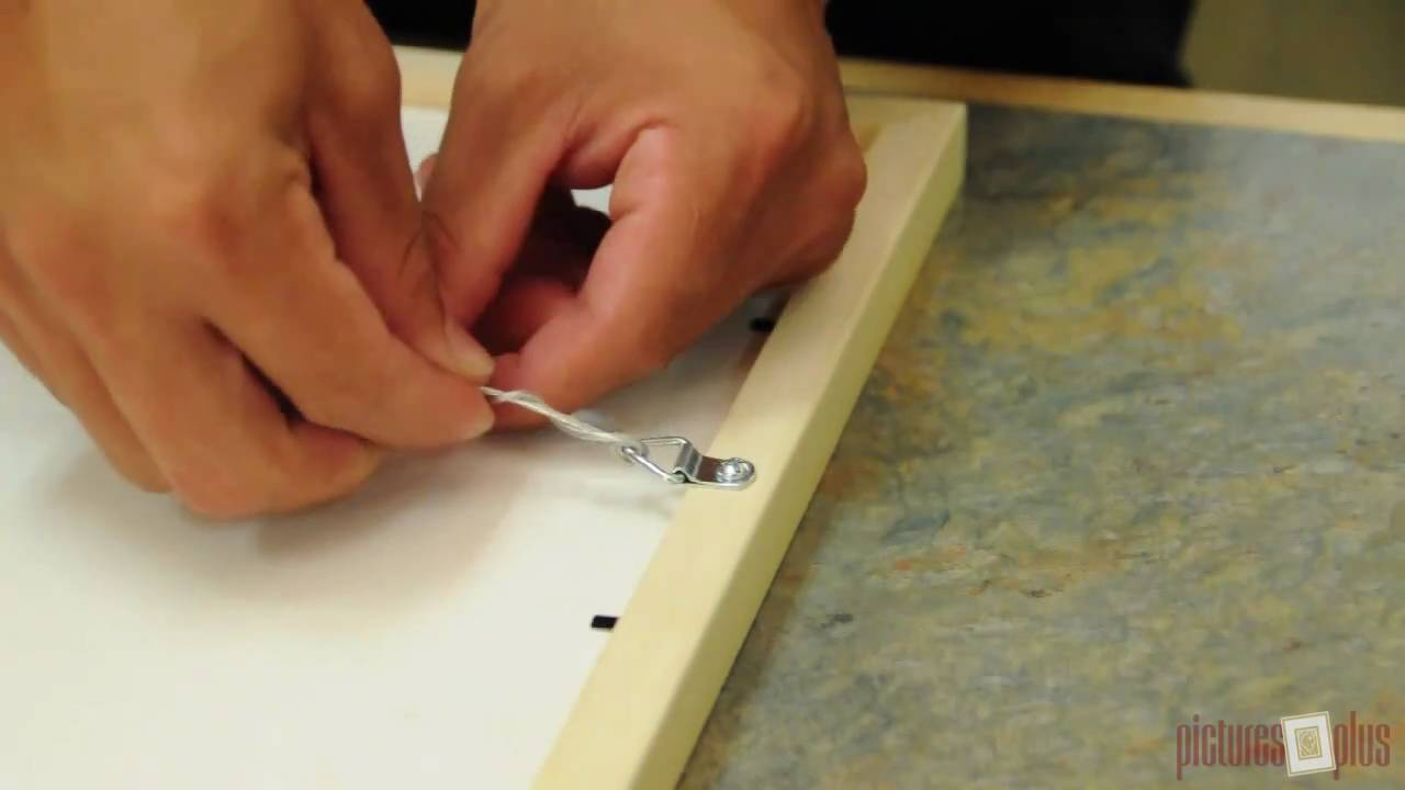 Mount a Wire Hanging Kit - YouTube