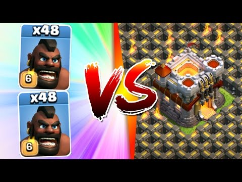 Clash Of Clans - 96 HOGS TOTAL vs TH11!! - INSANE TOWN HALL 11 ATTACK STRATEGY!