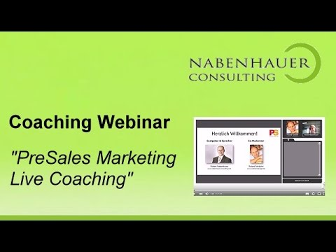 PreSales Marketing - Live Coaching - FAQ zu Social Media Marketing System - Nabenhauer Consulting