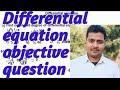 Differential equation objective for Bihar board
