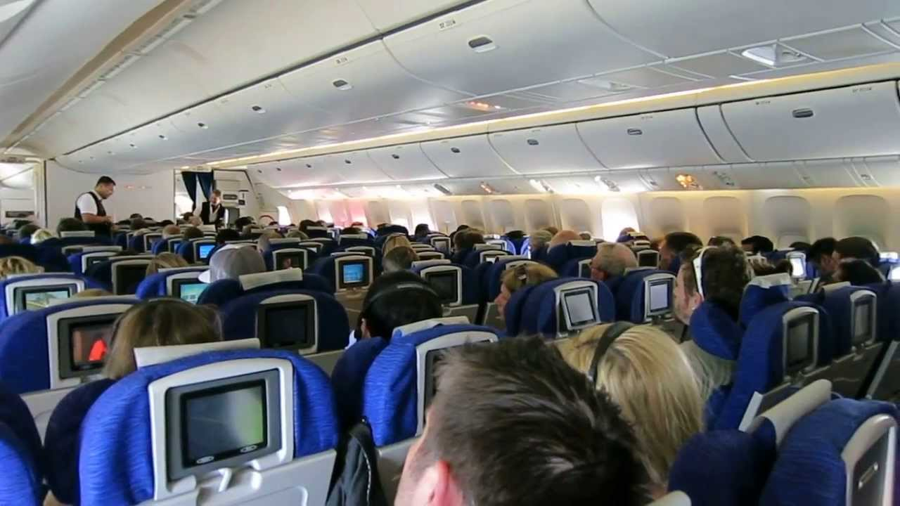 British Airways 777 World Traveller Cabin Youtube