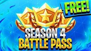 FORTNITE SEASON 4 BATTLE PASS FOR FREE! - Fortnite: Battle Royale
